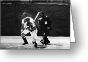 Umpire Greeting Cards - Hank Aaron (1934- ) Greeting Card by Granger