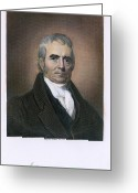 Autograph Photo Greeting Cards - John Marshall (1755-1835) Greeting Card by Granger
