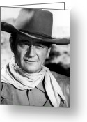 Film Still Photo Greeting Cards - John Wayne (1907-1979) Greeting Card by Granger