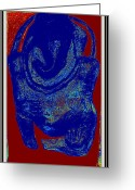 Sea Life Sculpture Greeting Cards - Lord Ganesha Greeting Card by Anand Swaroop Manchiraju