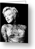 Earrings Photo Greeting Cards - Marilyn Monroe (1926-1962) Greeting Card by Granger