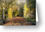 Turning Leaves Greeting Cards - 8 Months Till Summer Greeting Card by Larry Keahey