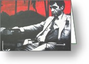 Tony Painting Greeting Cards - Scarface Greeting Card by Luis Ludzska