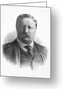 Nobel Peace Prize Greeting Cards - Theodore Roosevelt Greeting Card by Granger