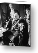 Grandson Greeting Cards - Winston Churchill Greeting Card by Granger