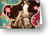 Erotic Nude Greeting Cards - Goddess Greeting Card by Chris Andruskiewicz