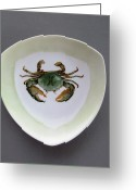 One Ceramics Greeting Cards - 866 4 part of the Crab Set 1 Greeting Card by Wilma Manhardt