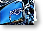 Motorcycle Photo Greeting Cards - 883 Greeting Card by Frank Larkin