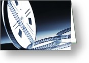 Film Greeting Cards - 8mm Film Roll Greeting Card by Gualtiero Boffi