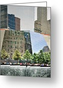 September 11 Greeting Cards - 9/11 Memorial Greeting Card by Gwyn Newcombe