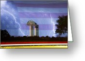 Lightning Bolt Pictures Greeting Cards - 9-11 We Will Never Forget 2011 Greeting Card by James Bo Insogna