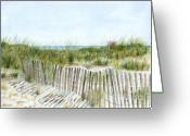 Beach Grass Greeting Cards - 9-12-2001 Greeting Card by Sheryl Heatherly Hawkins