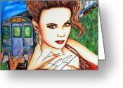 Sheena Greeting Cards - 9 2 5 Train Greeting Card by Joseph Lawrence Vasile