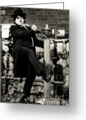 Sly Greeting Cards - Charlie Chaplin Greeting Card by Oleksiy Maksymenko
