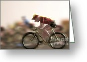 Tour De France Greeting Cards - Cyclists Greeting Card by Bernard Jaubert