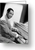 Seated Greeting Cards - Duke Ellington (1899-1974) Greeting Card by Granger