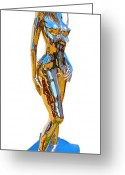 Nudes Sculpture Greeting Cards - Evolution of Eve figure 4 Greeting Card by Greg Coffelt