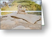 Aladdin Greeting Cards - Fairytale Sand Sculpture  Greeting Card by Shay Velich
