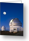Telescope Domes Greeting Cards - Gemini North Telescope, Hawaii Greeting Card by David Nunuk