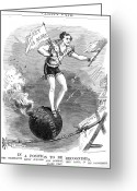 Tightrope Greeting Cards - Jefferson Davis (1808-1889) Greeting Card by Granger