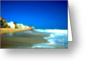 Sand And Sea Greeting Cards - Malibu  Greeting Card by Marc Bittan