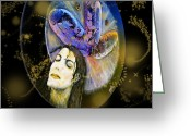 Michael Jackson Greeting Cards - Michael Jackson Greeting Card by Augusta Stylianou