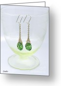 Earrings Photo Greeting Cards - My Art Jewelry Greeting Card by Eena Bo