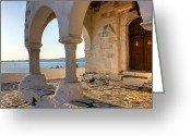 Portico Greeting Cards - Paros - Cyclades - Greece Greeting Card by Joana Kruse