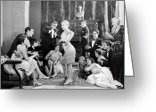 Roaring Twenties Greeting Cards - Silent Film Still: Dancing Greeting Card by Granger