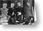 Glove Greeting Cards - Silent Film Still: Uniforms Greeting Card by Granger