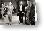 Tuxedo Greeting Cards - Silent Still: Showgirls Greeting Card by Granger