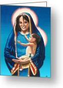 Photorealism Greeting Cards - The Madonna of Puerto Nuevo Greeting Card by Charles Ragsdale