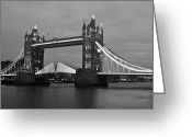 Tower Of London Greeting Cards - Tower Bridge Greeting Card by Dawn OConnor
