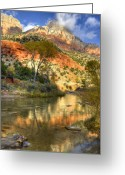 Sentinel Greeting Cards - Zion National Park Utah Greeting Card by Utah Images