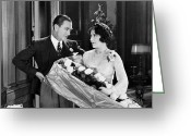 Corsage Greeting Cards - Silent Film Still: Couples Greeting Card by Granger