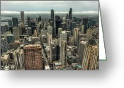 Noah Greeting Cards - 96 Floors Up Above Chicago Greeting Card by Noah Katz