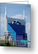 Nashville Greeting Cards - 9th Avenue ATT Building Nashville Greeting Card by Susanne Van Hulst
