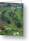 Aerials Greeting Cards - 9th Hole Sunnybrook Golf Club 398 Stenton Avenue Plymouth Meeting PA 19462 1243 Greeting Card by Duncan Pearson