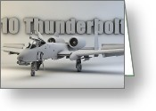 Cinema 4d Greeting Cards - A-10 Thunderbolt II Greeting Card by Dale Jackson