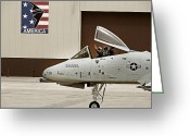Whiteman Photo Greeting Cards - A-10 Thunderbolt Greeting Card by Lamyl Hammoudi