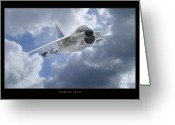 Military Artwork Greeting Cards - A-7 Corsair Greeting Card by Larry McManus