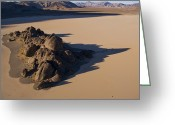 Desolate Landscapes Greeting Cards - A 73-foot-high Outcrop Breaks The Flat Greeting Card by Michael Melford