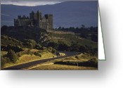 Medieval Architecture Greeting Cards - A Ancient Romanesque Castle Sits Atop Greeting Card by Cotton Coulson