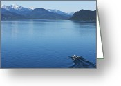 18-19 Years Greeting Cards - A Athletic Wakeboarder Jumps The Wake Going Huge On A Calm Day In Idaho Greeting Card by Patrick Orton