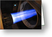 Afterburner Greeting Cards - A B-1b Lancer F-101 Turbofan Engine Greeting Card by Stocktrek Images