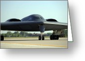 Whiteman Photo Greeting Cards - A B-2 Spirit Taxis Onto The Flightline Greeting Card by Stocktrek Images