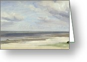 1842 Greeting Cards - A Beach on the Baltic Sea at Laboe Greeting Card by Jacob Gensler