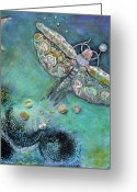 Sky Jewelry Greeting Cards - A Beacon in the Night Greeting Card by Mirinda Kossoff