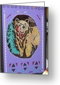 Light My Fire Mixed Media Greeting Cards - A Bear For Dad Greeting Card by Robert Margetts
