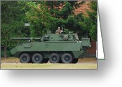 Belgian Army Greeting Cards - A Belgian Army Piranha Iiic Greeting Card by Luc De Jaeger
